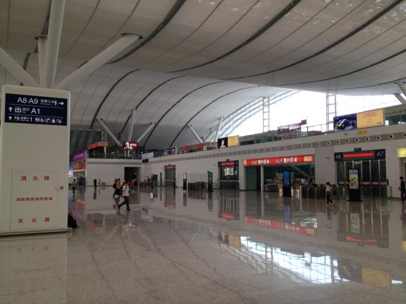 Ticket gates at Shenzhen North Railway Station
