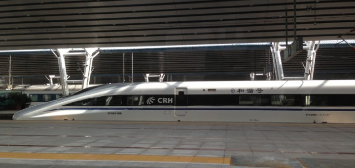 HSR train at Beijing West station