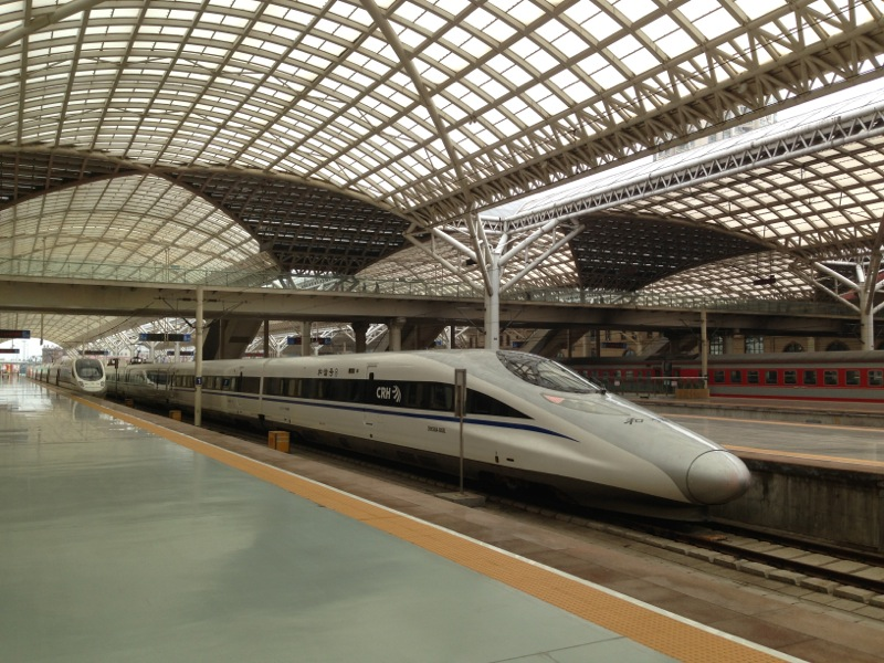 CRH train at Qingdao Railway Station