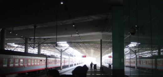 Trains at Shanghai South station