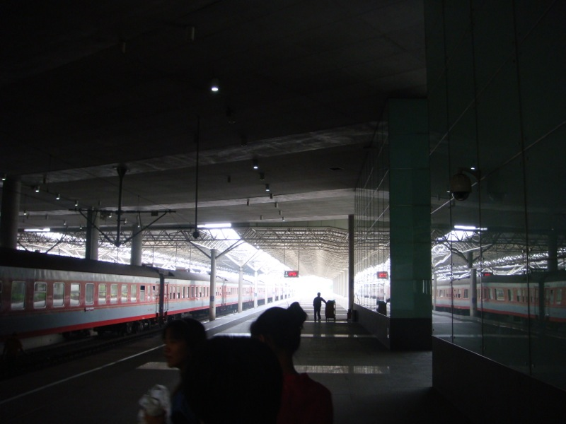 Trains at Shanghai South station