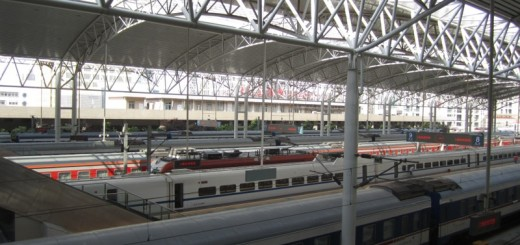 Trains at Shanghai Railway Station