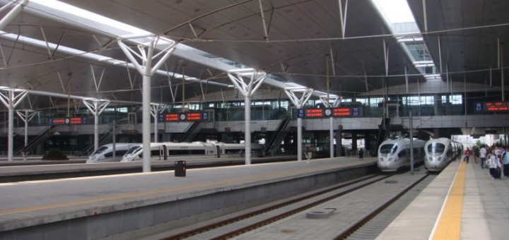 Trains at Tianjin Railway Station